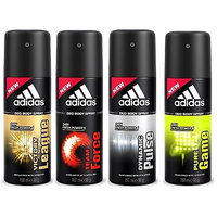 Adidas Spray Deodorants Force, Victory League, Pure Game and Dynamic Pulse Of 150 ML Each (Set of 4)