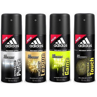 Adidas Deodorants Dynamic Pulse, Victory League, Pure Game And Intense Touch Of 150 ML Each (Set Of 4) For Men