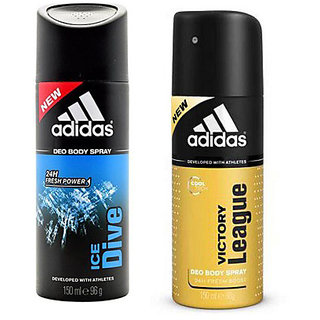 Adidas Deodorants Ice Dive And Victory League Of 150 ML Each (Set of 2) For Men