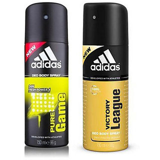 Adidas Deodorants Pure Game And Victory League Of 150 ML Each (Set of 2) For Men