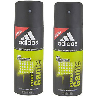 Adidas Deodorants 2 Pure Game Of 150 ML Each (Set of 2) For Men
