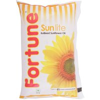 Fortune Sunflower Oil Pouch, 1 L
