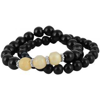 Beadworks Glass Strand Bracelets for Women (BR-Str-81)