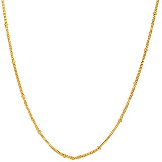 Beadworks Gold Plated Chain for Women (Chain-02)