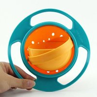 Gyro Bowl- Spill Resistant for Kids Gyroscopic with Lid Snack - Plastic