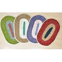 JBG Home Store Combo of 4 Beautiful Oval Door Mat (JBG482)