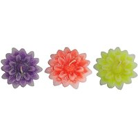 Atorakushon PACK OF 12 DALIA FLOWER FLOATING CANDLE FOR DIWALI BIRTHDAY PARTY