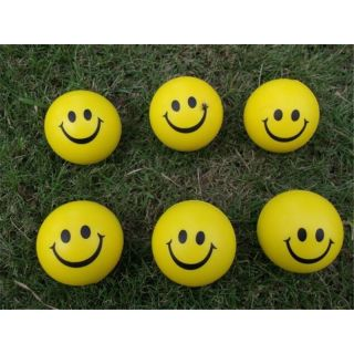 Set of 6 Pcs - Smiley Face Squeeze - Anti-Stress Ball Perfect Toy for Kids