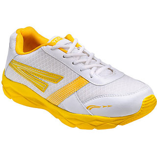 Yepme Kronos Sports Shoes - White & Yellow