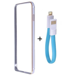 Bumper case for Samsung Galaxy ON 7 (SILVER) With powerbank usb cable