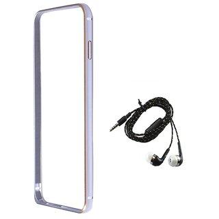 Bumper case for Samsung Galaxy J7 (SILVER) With TARANG EARPHONE