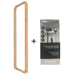 Bumper case for Samsung Galaxy Note 5 (GOLDEN) WITH CLEAR EARPHONE