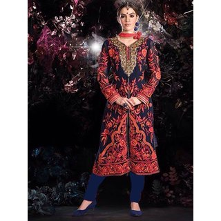 Trendz Apparels Blue Georgette Pakistani Suit Salwar Suit