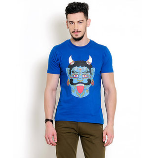 Yepme Devil Face Tee - Royal Blue