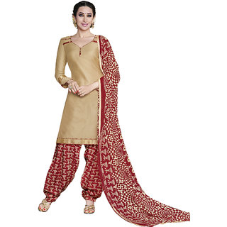 Trendz Apparels Ceam Cotton Patiala Salwar Suit