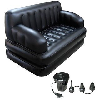 Skyshop - Lovato Pvc 2 Seater Inflatable Sofa (Color - Black)