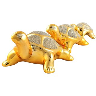 Aica Vastu 3 Pcs Tortoise Showpeace Feng Shui Figurine For Home Decor