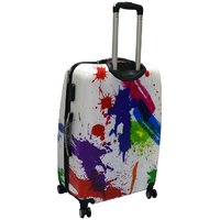 20inch Travelling Trolly Bag - White Multi 101