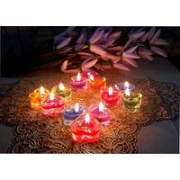 ZAHAB FANCY GLASS GEL CANDLES HEART SHAPE SET OF 12