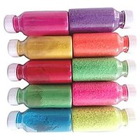 OGEE Rangoli Colours Bottles (Pack Of 10 Different Colours Bottles)