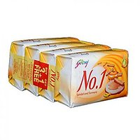 Godrej No.1 Soap Sandal And Turmeric, Pack Of 4 X 68 G