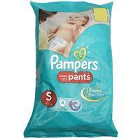 Pampers Pants Small, Baby Dry, 4 U