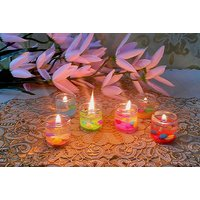 ZAHAB FANCY GEL GLASS CANDLE SET OF 6 PCS