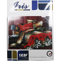 Skap Printed Double Bed Sheet With Two Pillow Covers, Approx 223 Cm X 250 Cm
