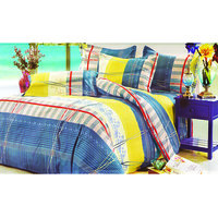 Skap Printed Double Bed Sheet With Two Pillow Covers, Approx 223 Cm X 248 Cm