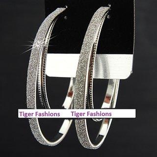 Silver Plated Hoop Earrings