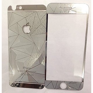 ShopAIS 3D Diamond Tempered Glass For Iphone 6 Silver - Front + Back Tempered Glass