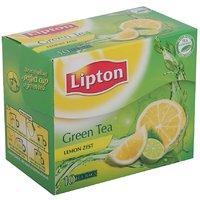 Lipton Green Tea Bags Lemon Zest, Pack Of 10 Sachets