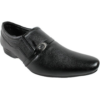 JerryMouse.in Mens Black Leather Formal Shoe - MFOR0039