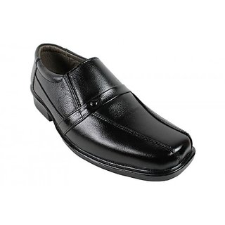 JerryMouse.in Mens Black Leather Formal Shoe - MFOR0040