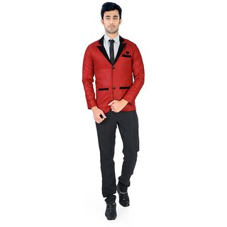 Nu abc Red Blazer For Men
