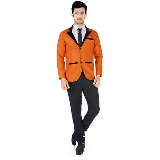 Nu abc Orange Blazer For Men
