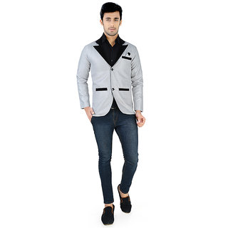Nu abc Grey Blazer For Men