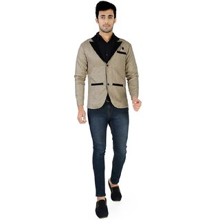 Nu abc Khaki Blazer For Men
