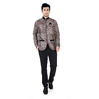 Nu abc Design Maroon Blazer For Men