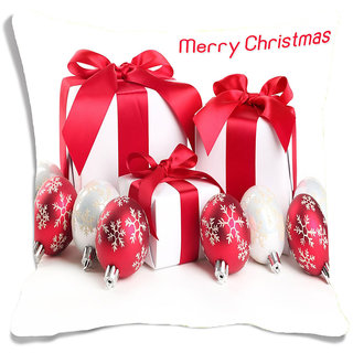 meSleep Red  Christmas  Digitally Printed Cushion Cover (16x16)