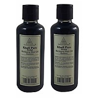 KHADI PURE NATURAL BRINGRAJ HAIR OIL Pack of 2