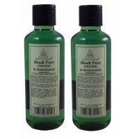 KHADI PURE 21 Herbs Herbal Ayurvedic  Hair Oil Pack of 2