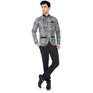 Nu abc Design Black Blazer For Men