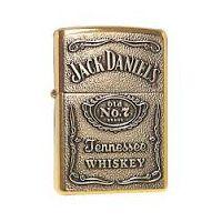 Jack Daniels Golden Zippo Style Premium Quality Stylish Refillable Cigarette Lighter