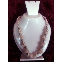 Sale! Rose Quartz Chip Stone Necklace Chakra Healing Crystal Gemstone Jewelry