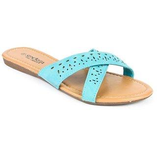 Liberty Senorita Women Blue Flats
