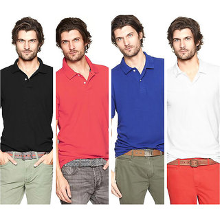 TSX Men's Multicolor Collared Neck Polo