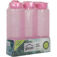 Gluman Fridge Bottle Food Grade, Pack Of 3 X 1000 ml