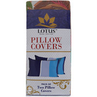 Lotus Pillow Cover Pack Of 2, Size 45 cm X 68 cm