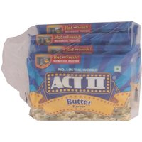 Act II Microwave Popcorn Butter, Pack Of 4 X 33 g